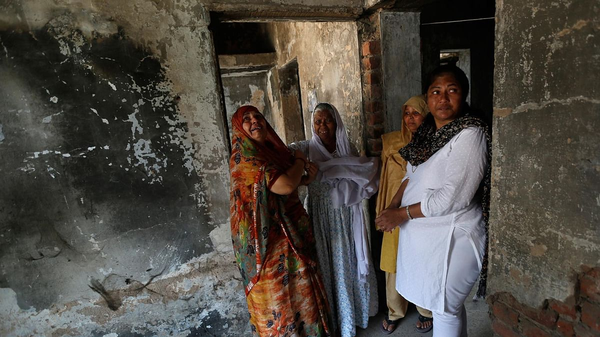 A house that was burnt and damaged in the mob attack  at Gulbarg society in 2002. (Photo: Reuters)