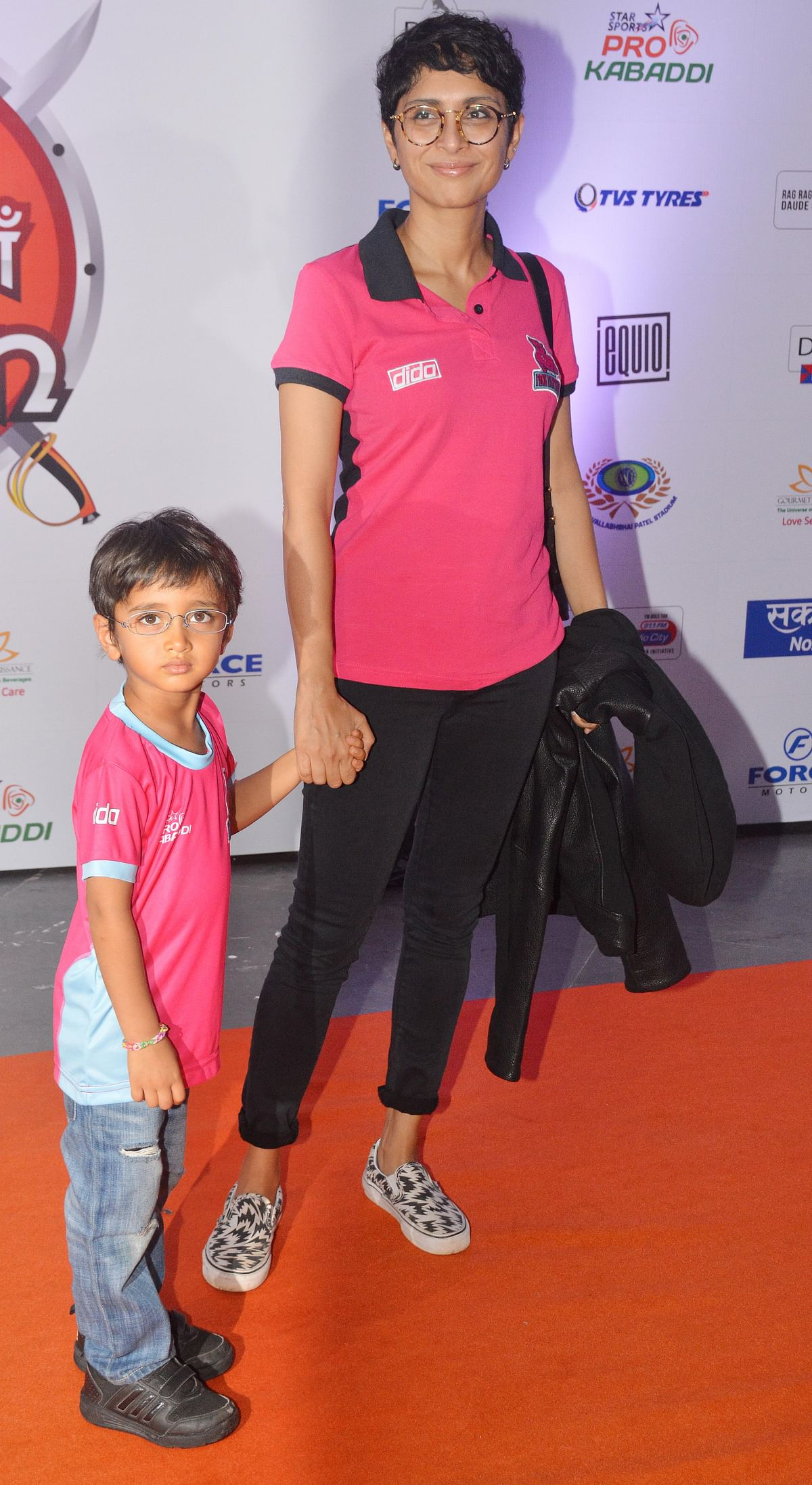 Kiran Rao attends the Pro Kabaddi League with son Azaad. (Photo: Yogen Shah)