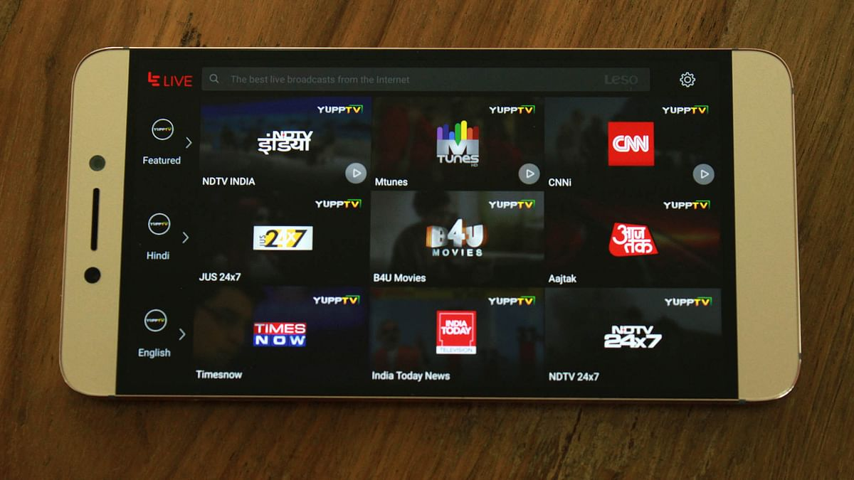 Live TV option is available on the LeEco Le 2. (Photo: <b>The Quint</b>)