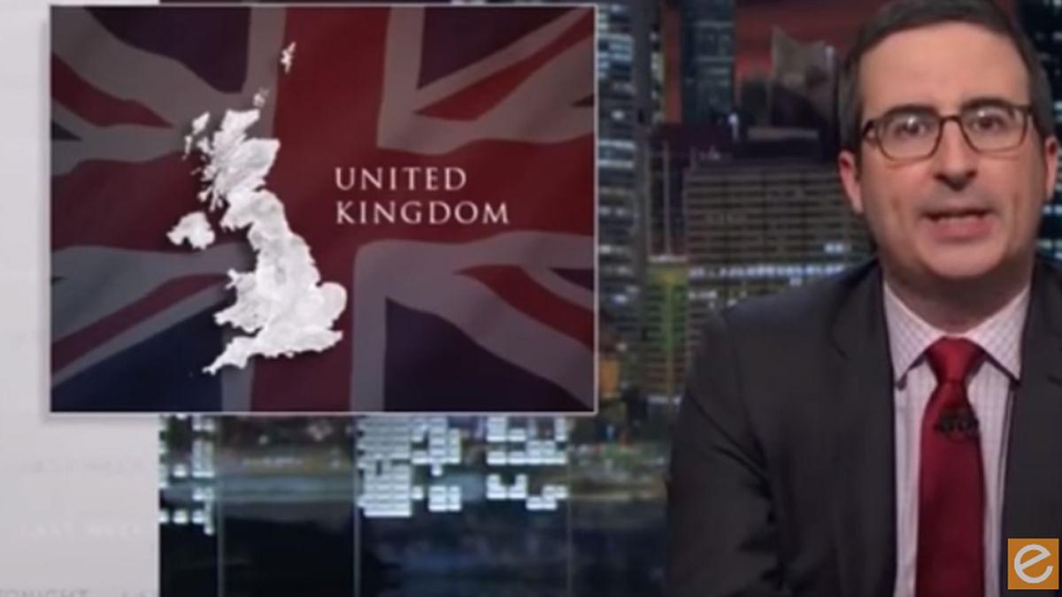 John Oliver on his show Last Week Tonight. (Photo: Screenshot)