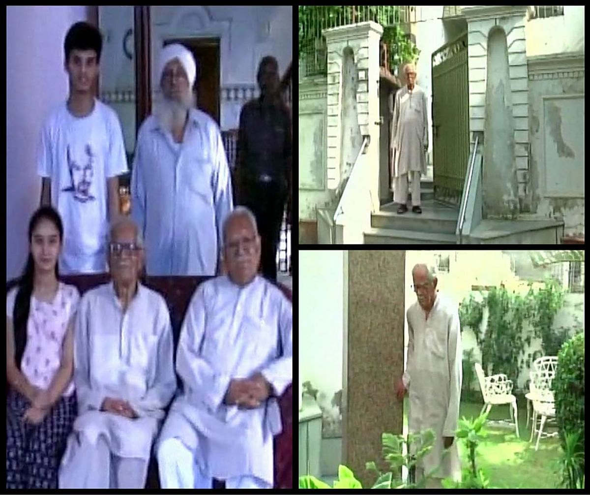 Krishna Khanna (91) at his ancestral home in Pakistan on Saturday, 25 June 2016. (Photo Courtesy: ANI)