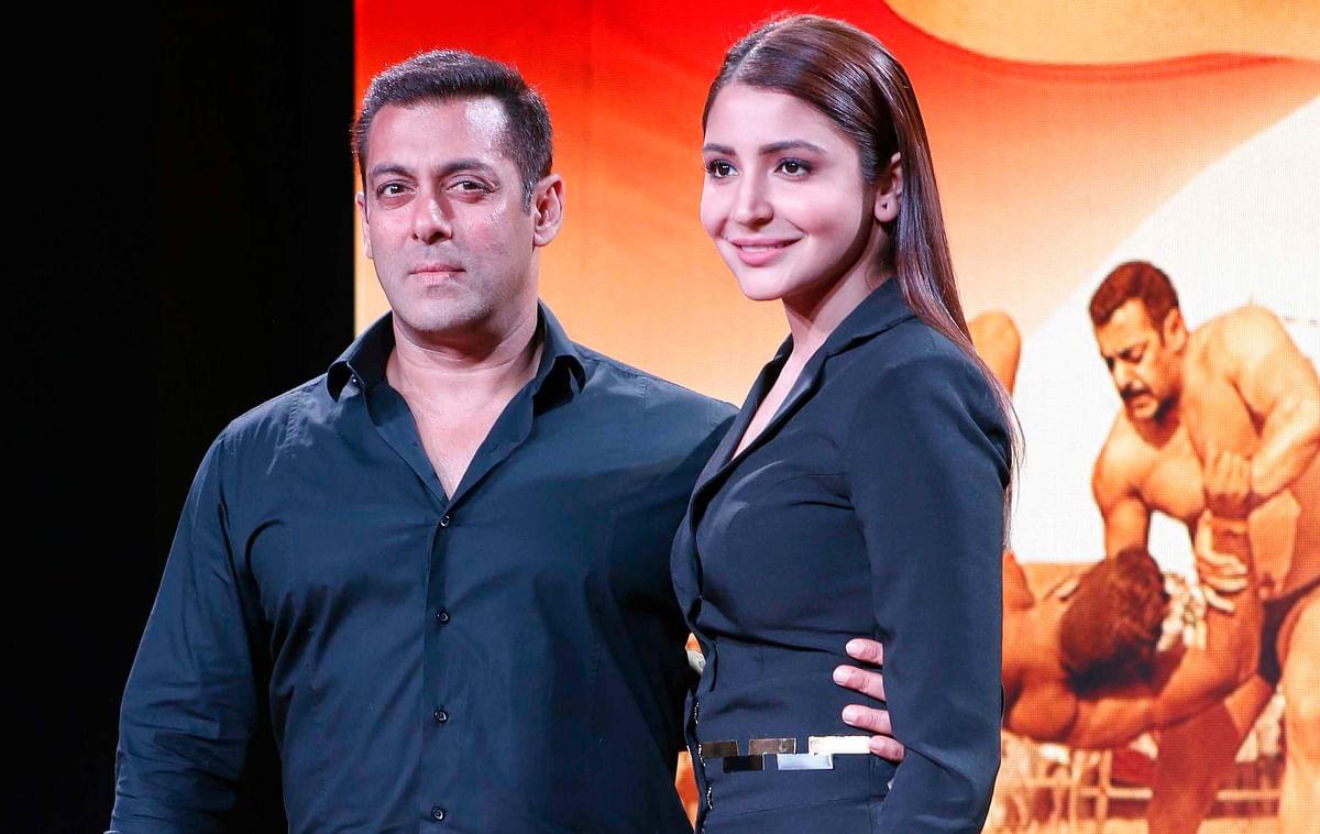 Salman Khan with Anushka Sharma at the <i>Sultan </i>trailer launch (Photo: Yogen Shah)