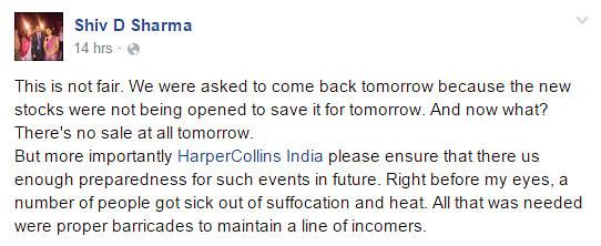 "(Photo: Facebook <a href=""https://www.facebook.com/events/1101356989920597/"">HarperCollins India Warehouse Sale</a>)"