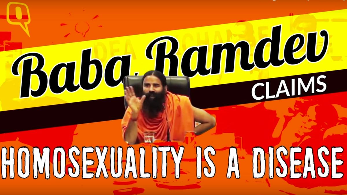 """Baba Ramdev's Patanjali has interesting """"cures"""" for homosexuality. (Photo: The Quint)"""