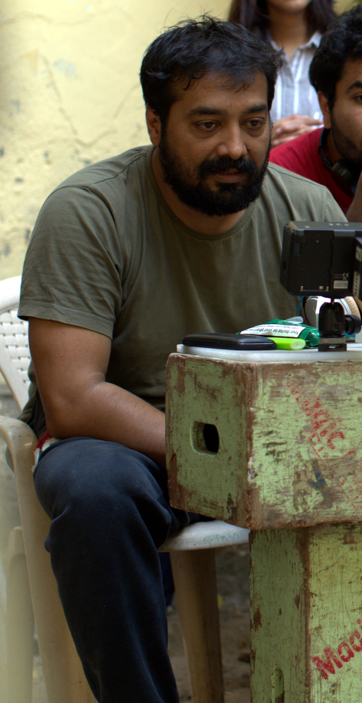 Anurag Kashyap on the sets of <i>Raman Raghav 2.0</i>