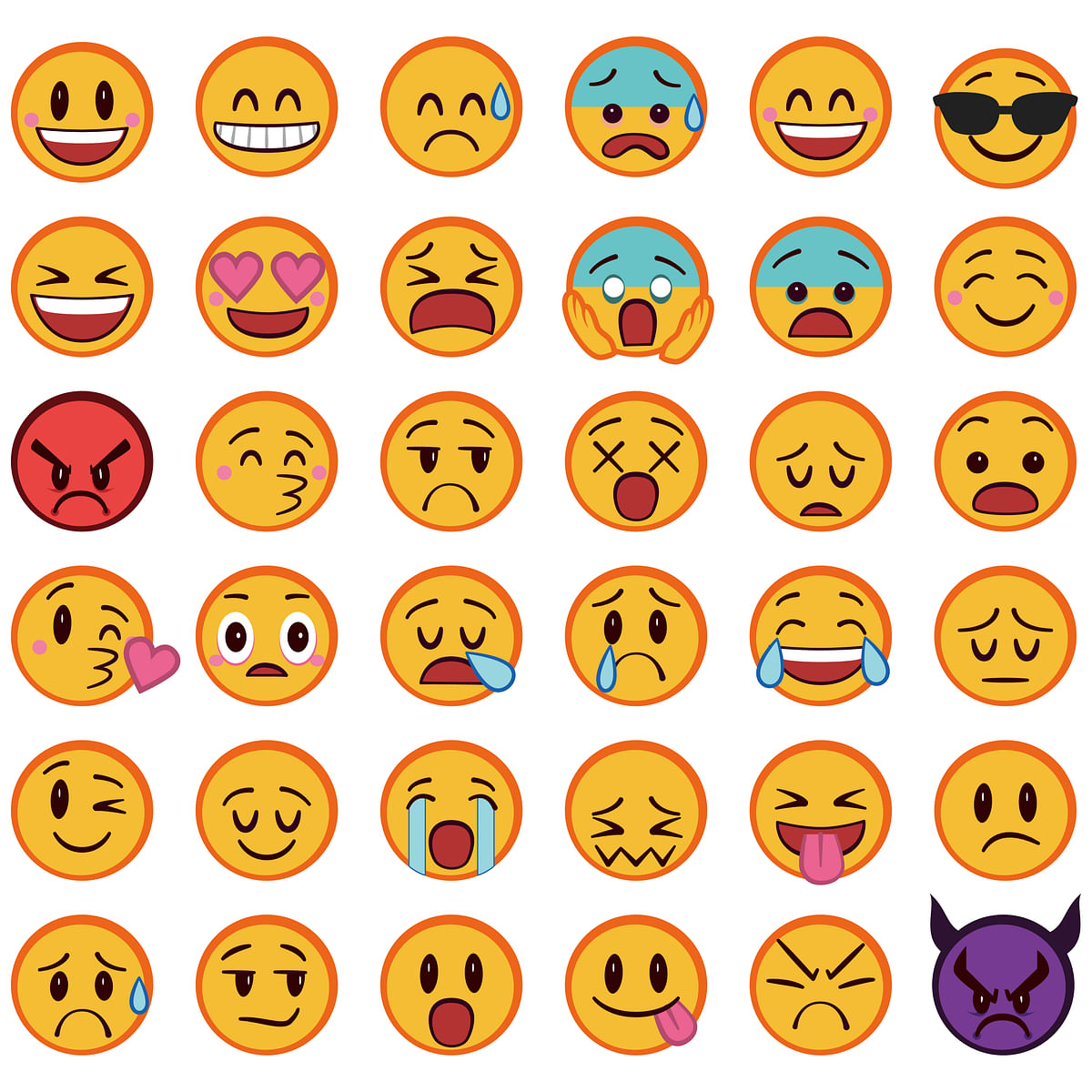 Emoticons are banned, especially if you're a woman (Photo: iStock)