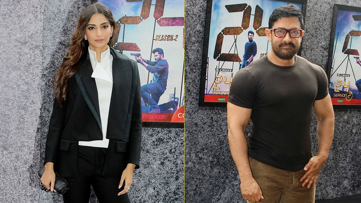 Sonam Kapoor and Aamir Khan at the trailer launch of <i>24</i> (Photo: Yogen Shah)