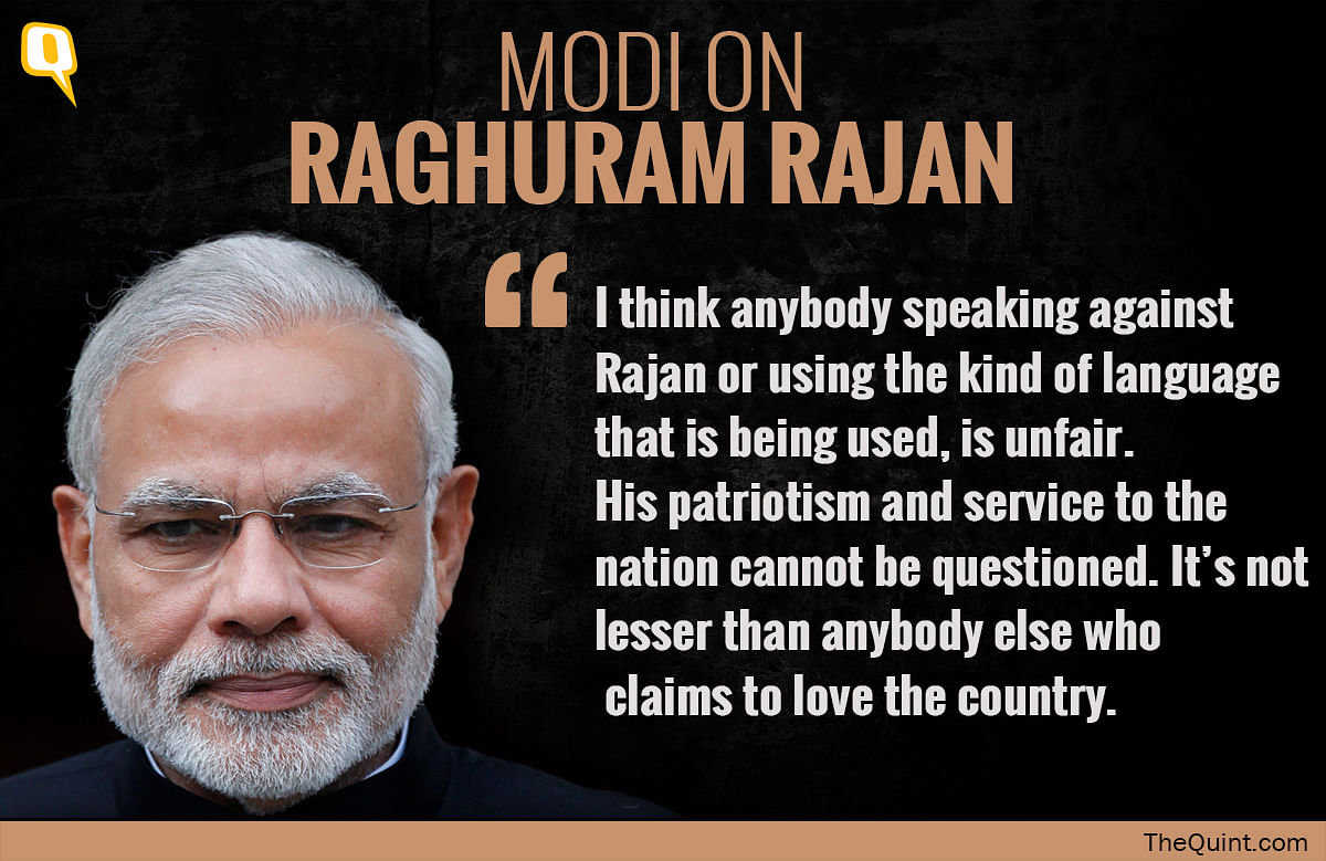 Attacks on Rajan are Unfair and Inappropriate: PM Modi Snubs Swamy