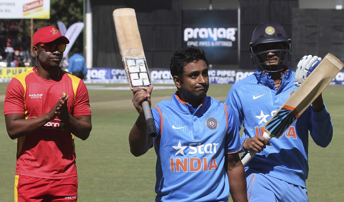 Ambati Rayudu is the second most experienced player in the Indian team touring to Zimbabwe. (Photo: Reuters)