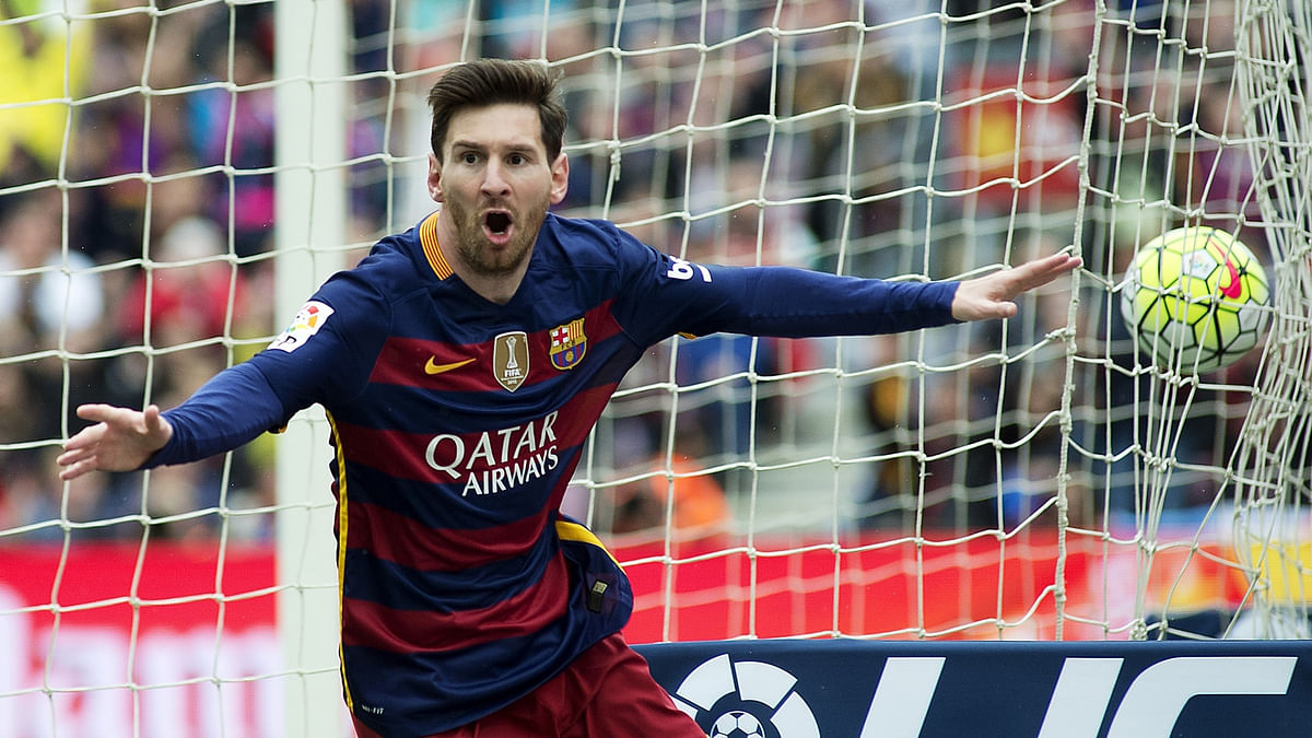 Lionel Messi on field.( Photo:IANS)