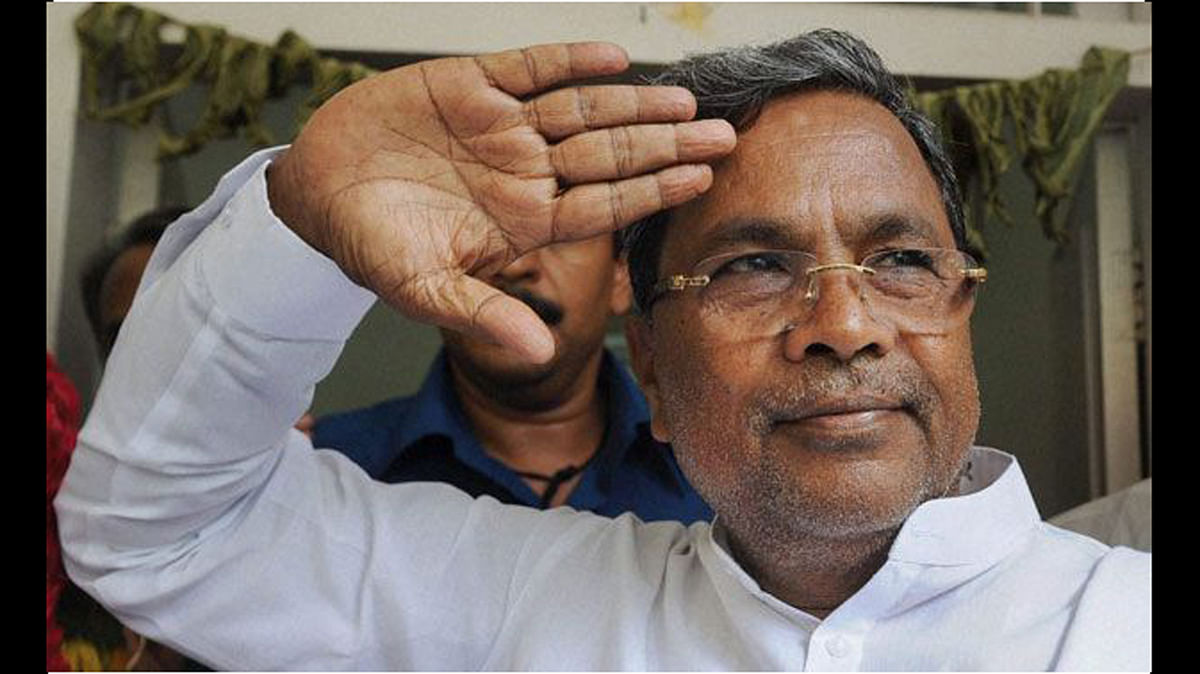 Karnataka Chief Minister Siddaramaiah. (Photo Courtesy: <i>The News Minute</i>)