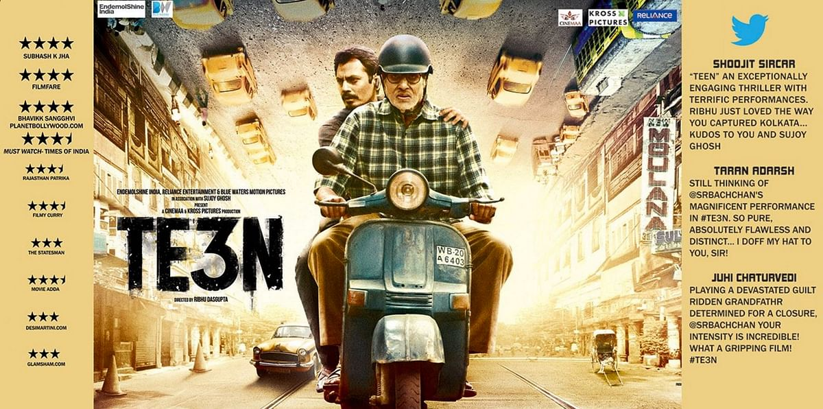 Movie reviews of <i>TE3N</i> (Photo: Twitter/RelianceEnt)