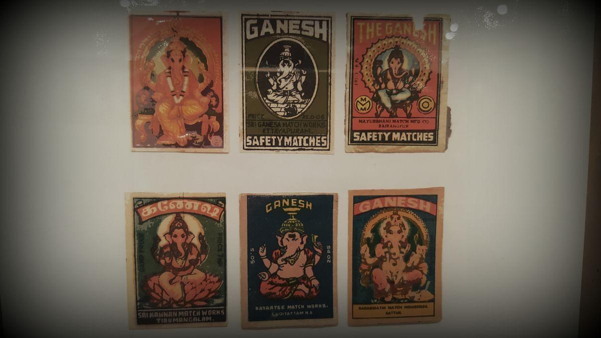 Ganesha covers on matchboxes. (Photo:&nbsp;<b>&nbsp;The Quint)</b>
