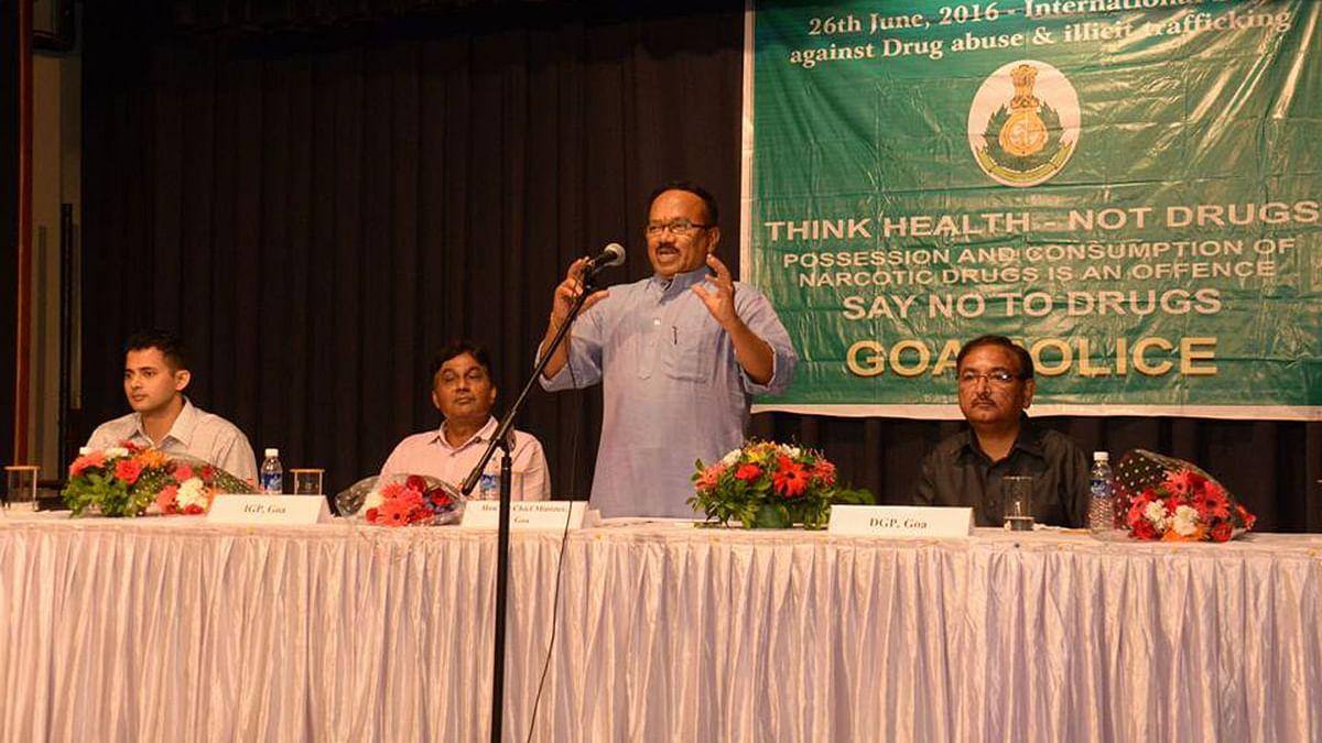 "Laxmikant Parsekar at a programme against drug abuse. (Photo Courtesy: Facebook/<a href=""https://www.facebook.com/laxmikantparsekarofficial/?fref=ts"">Laxmikant Parsekar</a>)"