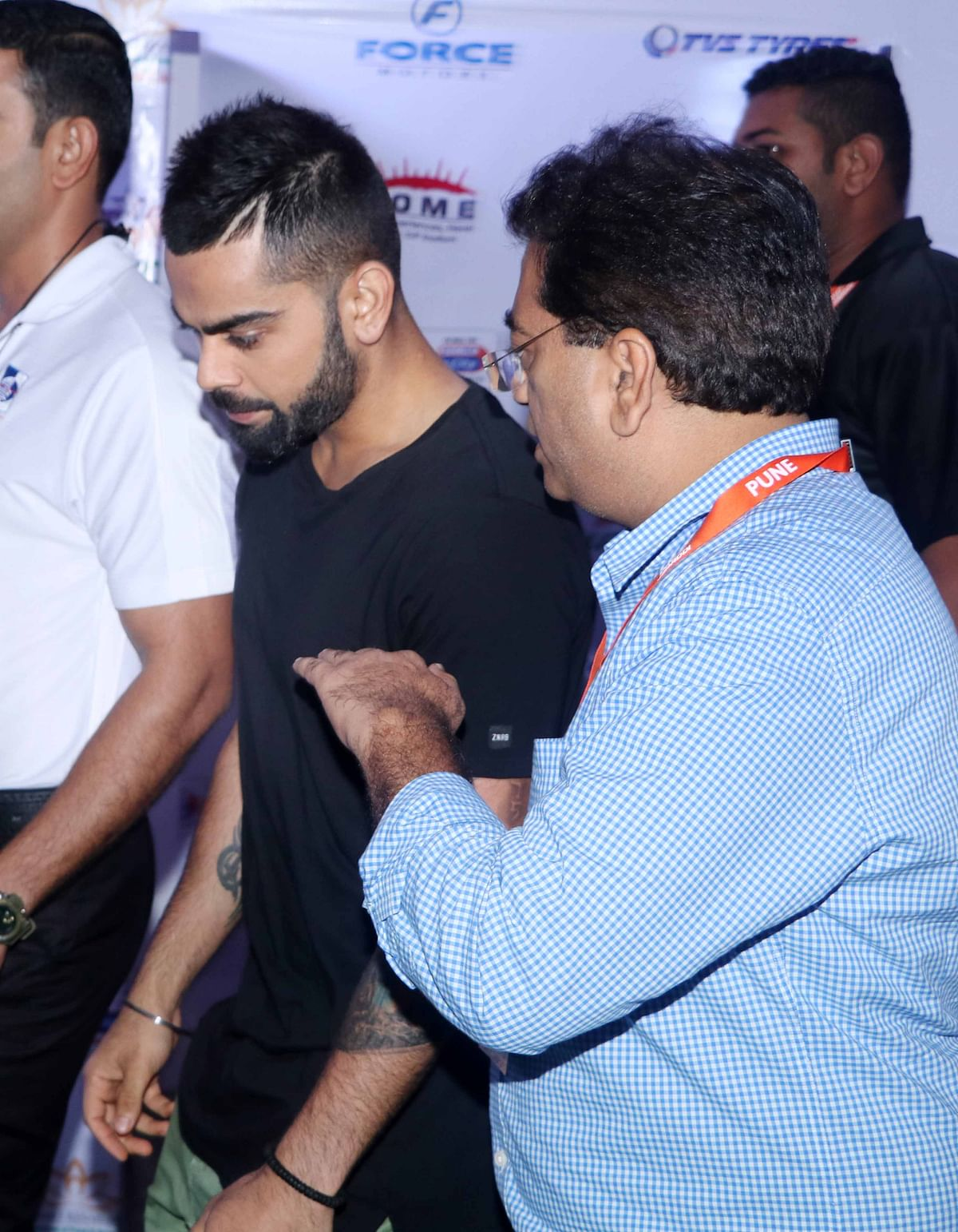 Virat Kohli attends the Pro Kabaddi League. (Photo: Yogen Shah)