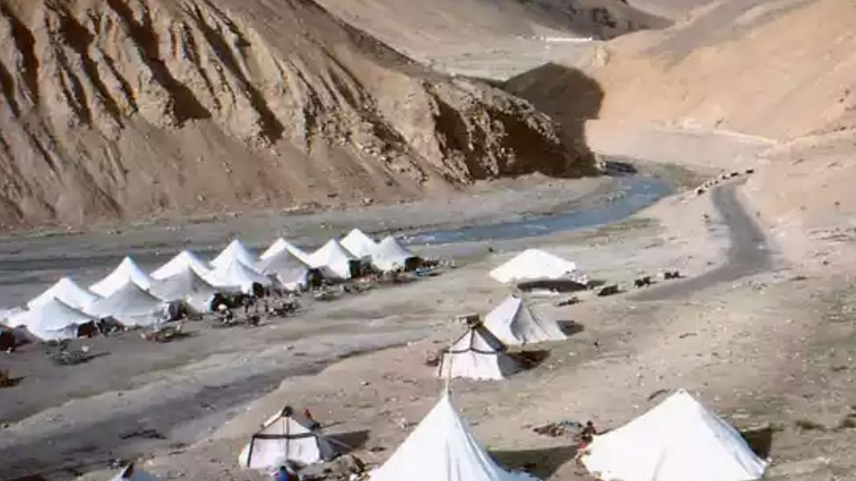 The Paang campsite and tented 'bed &amp; breakfast' lodges run by Tibetan nationals. (Photo: Satya Rao Komanna/<b>The Quint</b>)