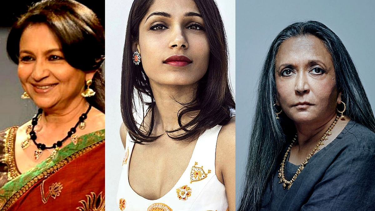 "Sharmila Tagore, Freida  Pinto and Deepa Mehta have  been chosen to be members  of the Oscar Academy (Photo courtesy: Instagram/ freidapinto, Twitter/ <a href=""https://twitter.com/search?f=images&amp;vertical=default&amp;q=deepa%20mehta&amp;src=typd"">@agotoronto</a>/ <a href=""https://twitter.com/search?f=images&amp;vertical=default&amp;q=sharmila%20tagore&amp;src=tyah"">@charka_</a>)"