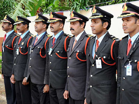 Tall men executive force. (Photo Courtesy: <i>The News Minute</i>)