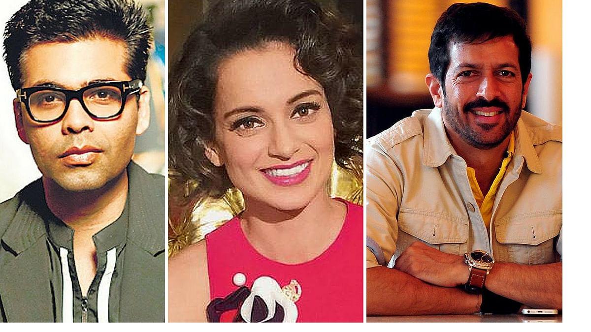 Karan Johar, Kangana Ranaut and Kabir Khan ( Photos courtesy: Twitter)