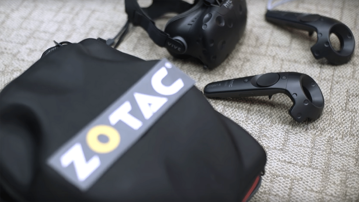 All good to go with your VR Backpack kit. (Photo Courtesy: YouTube/Zotac)