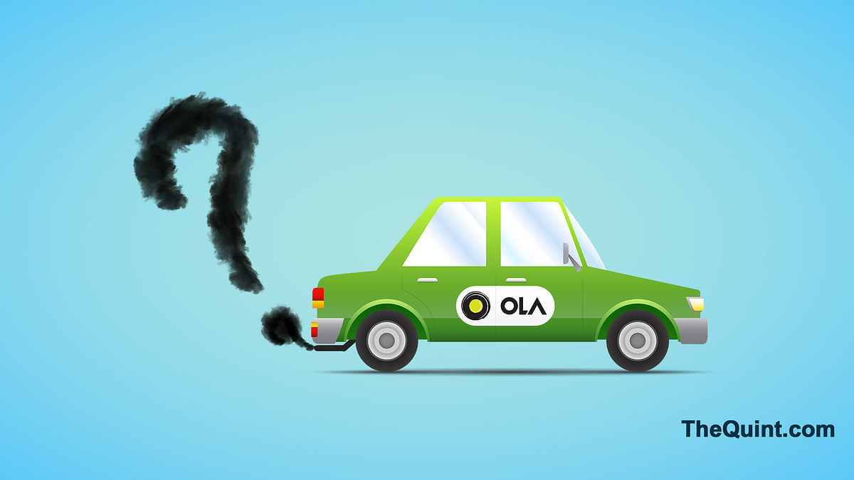 Is Ola really cutting down India's carbon emissions? (Image: Hardeep Singh/<b>The Quint</b>)