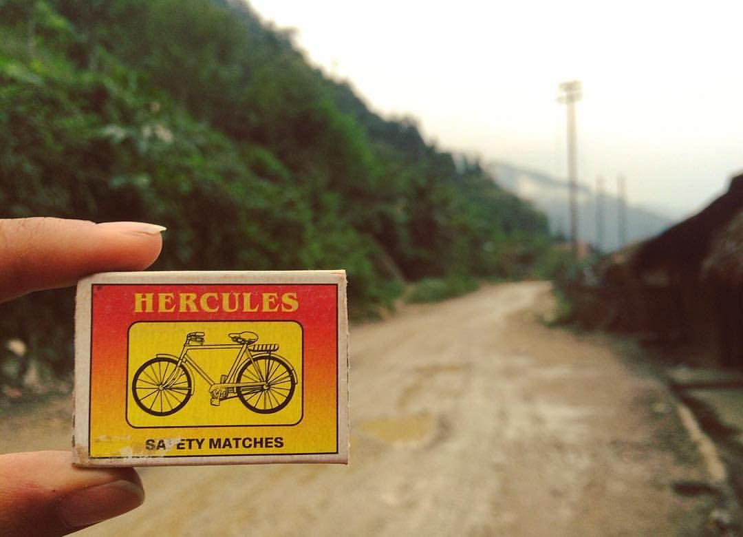 """A matchbox with the unusual name, Hercules safety matches. (Photo Courtesy: <a href=""""https://www.facebook.com/matchboxmemory/info/?entry_point=page_nav_about_item&amp;tab=page_info"""">Matchbox Memory)</a>"""