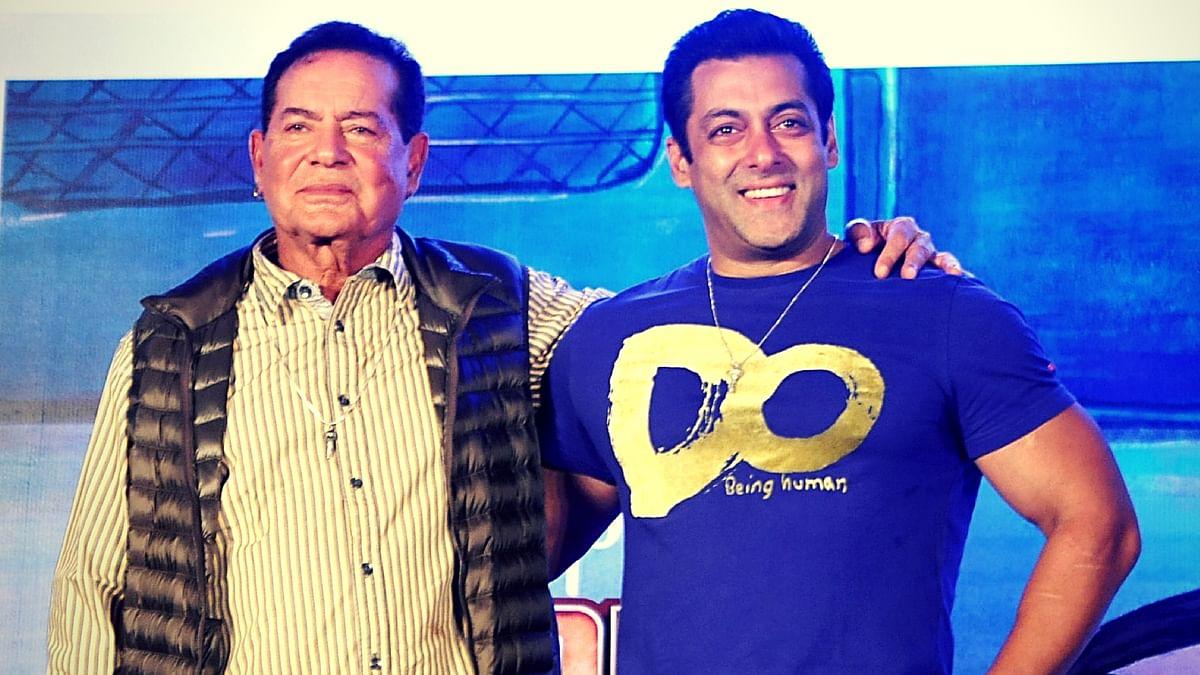 Salim Khan with son Salman.