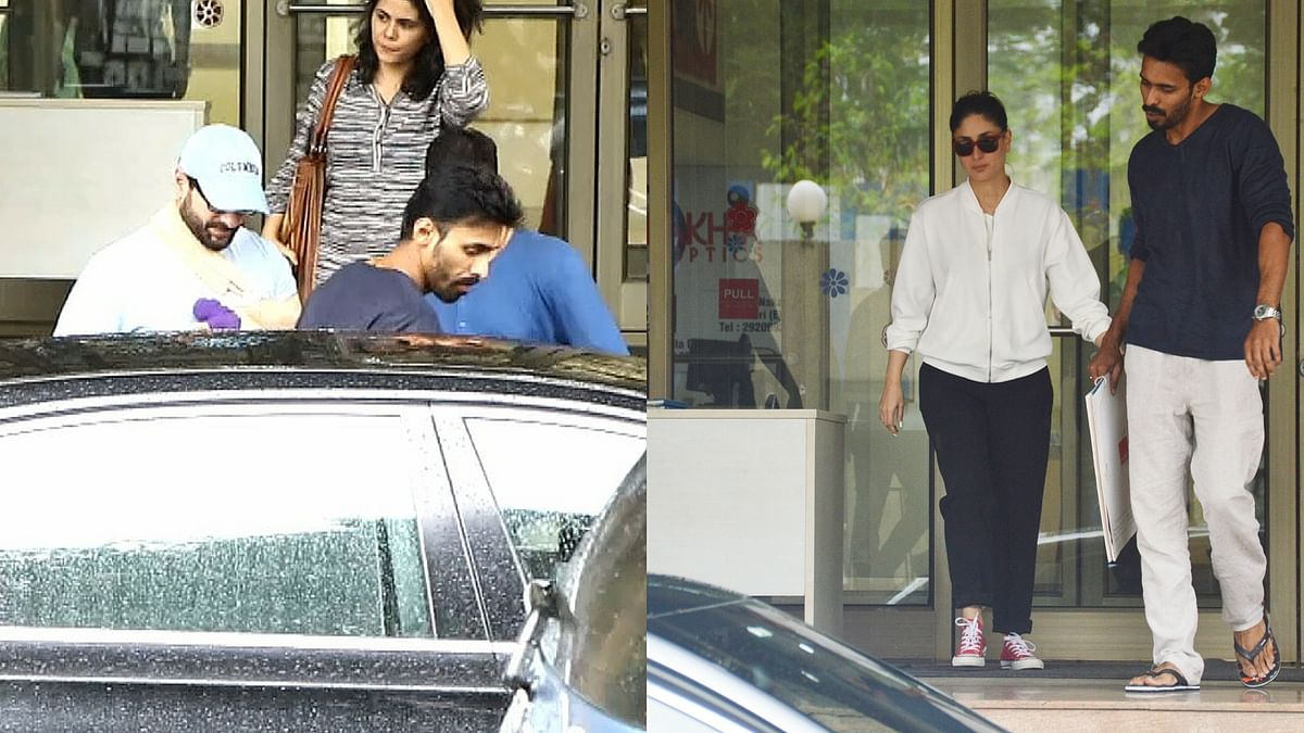 Saif and Kareena leaving the hospital. (Photo: Yogen Shah)
