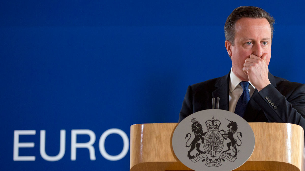 File photo of David Cameron at an EU summit. (Photo: AP)