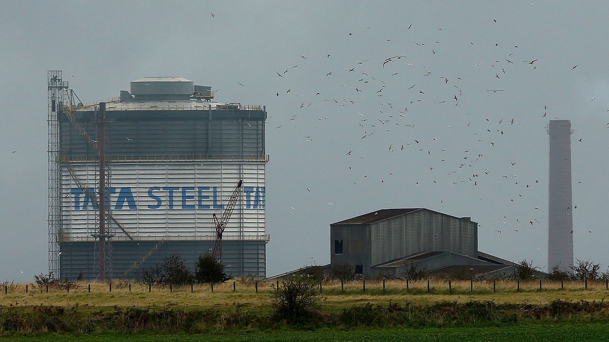 Tata Steel plant in Scunthorpe northern England. (Photo: Reuters)