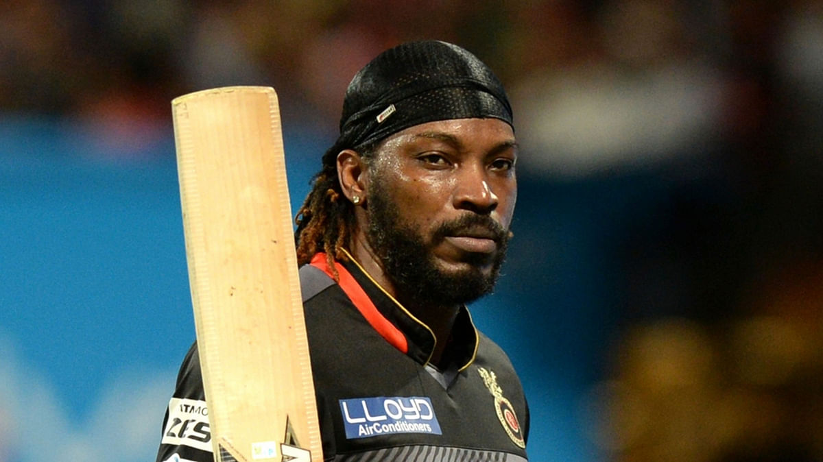 Chris Gayle during a T20 match in Bengaluru. (Photo: IANS)