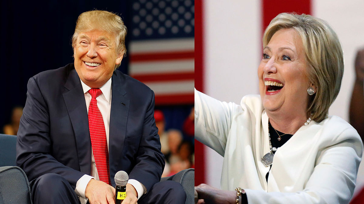 Donald Trump (L) and Hillary Clinton (R). (Photo: Altered by <b>The Quint</b>)