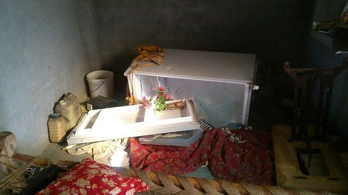 Inside Mohammad Akhlaq's house in Bisahara, Dadri. (Photo: <b>The Quint</b>)