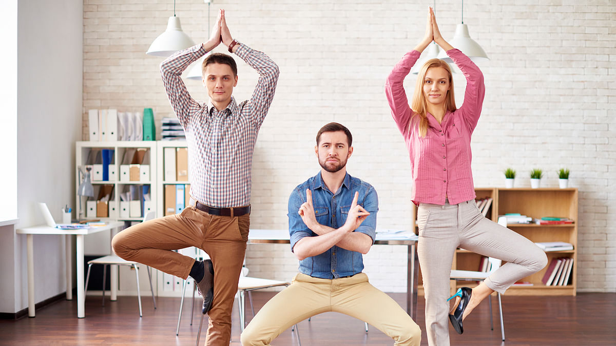 How about some 'white' yoga? (Photo: iStockphoto)