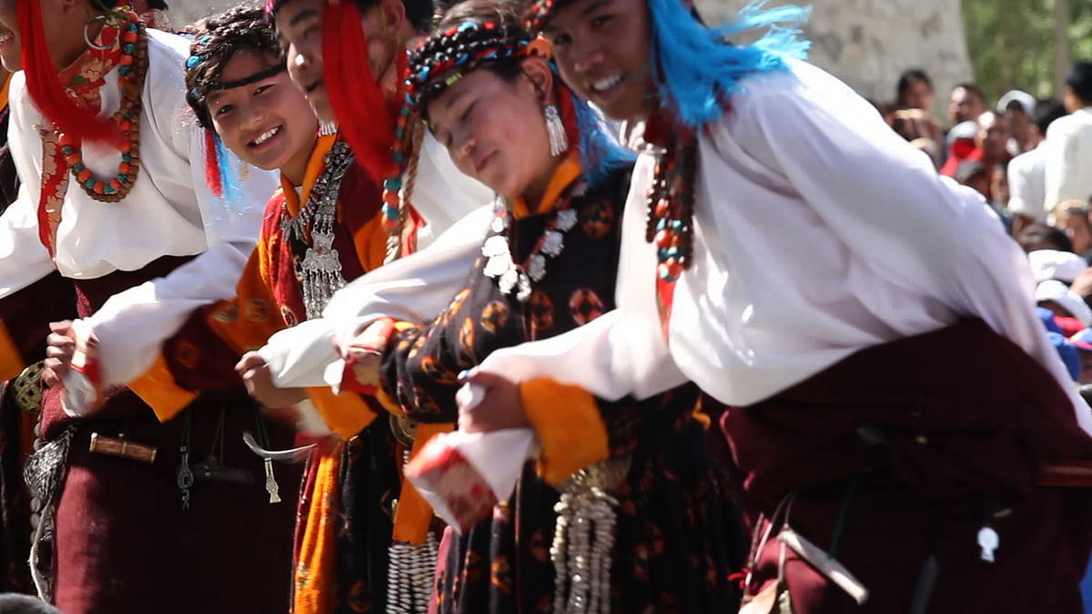 Morup travelled throughout Ladakh staging song and dance performances that aimed to inspire pride in the Ladakhi identity.(Photo Courtesy: Erik Koto)