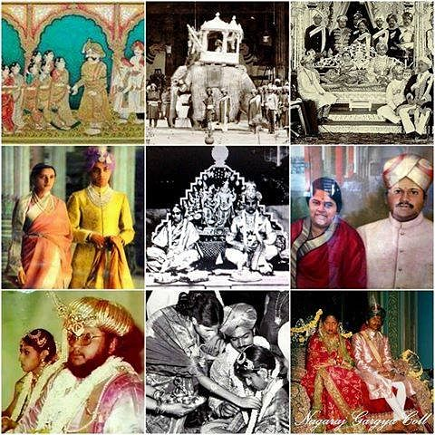 "The past weddings in the Wadiyar royal family. (Photo Courtesy: FB Page of <a href=""https://www.facebook.com/yaduveerkcwadiyar/?fref=ts"">Yaduveer Krishnadatta Chamaraja Wadiyar- The New scion</a>)"
