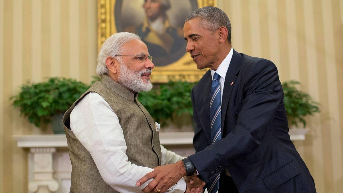 President Barack Obama and Indian Prime Minister Narendra Modi. (Photo Courtesy: AP)