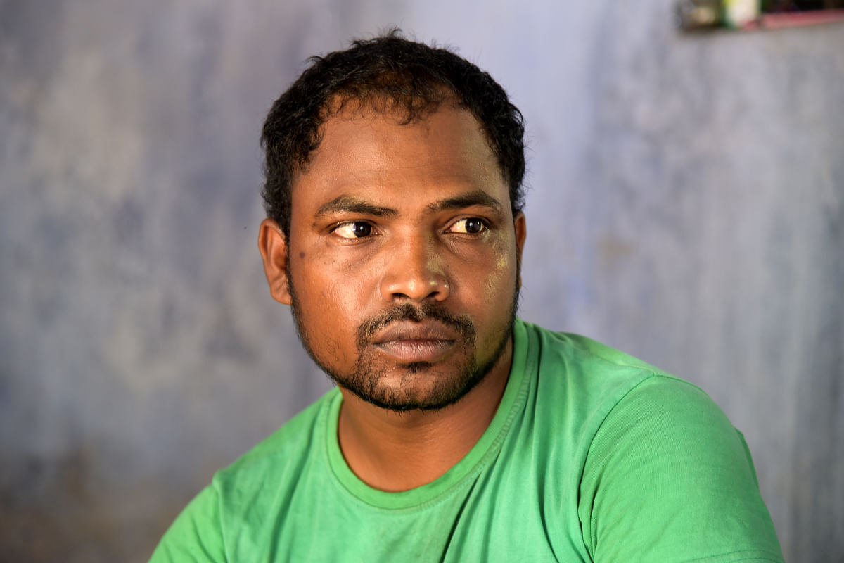 Bodhon Kisku, Sonoram's brother. (Photo: Tanmoy Bhaduri)