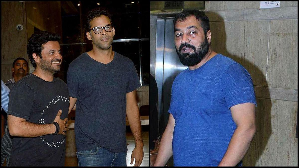 Vikas Bahl,  Madhu Mantena, and Anurag Kashyap at the screening of Udta Punjab. (Photo: Yogen Shah/<b>The Quint</b>)