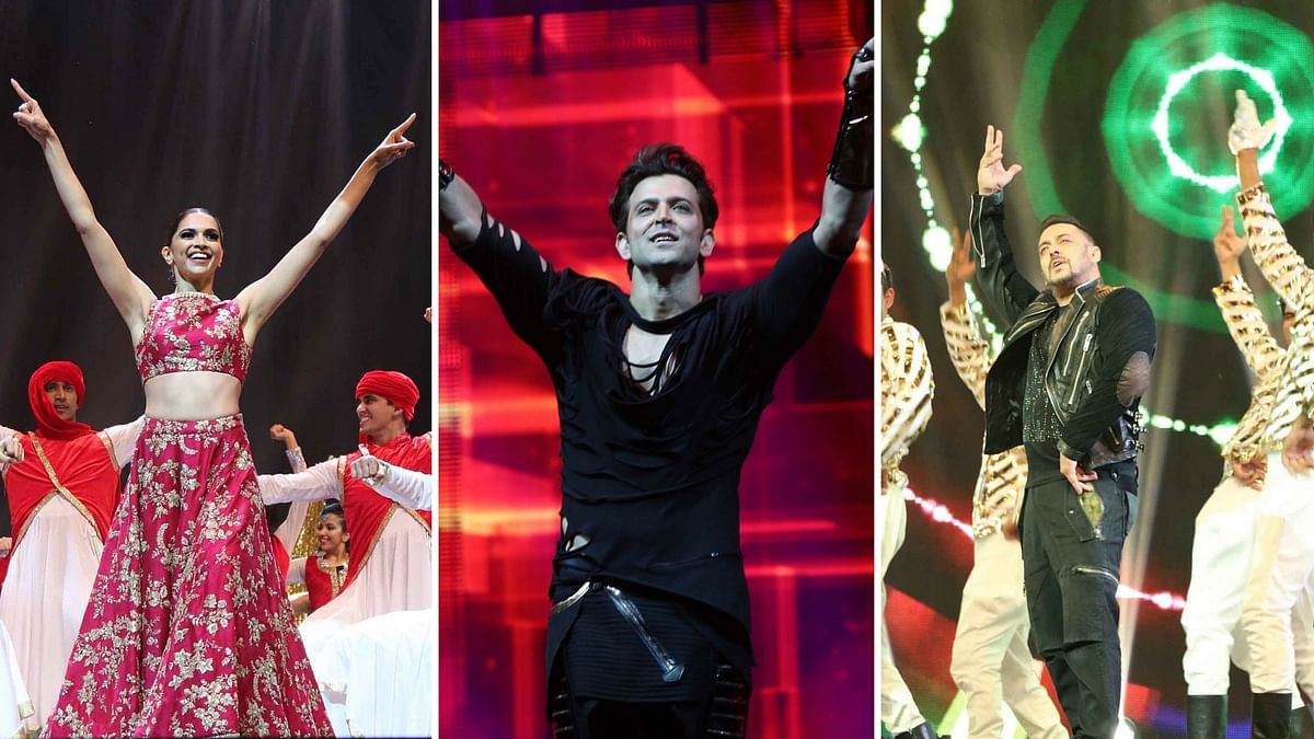Deepika Padukone, Hrithik Roshan and Salman Khan enthral the audience with their smashing performances at IIFA Madrid. (Photo: Yogen Shah)
