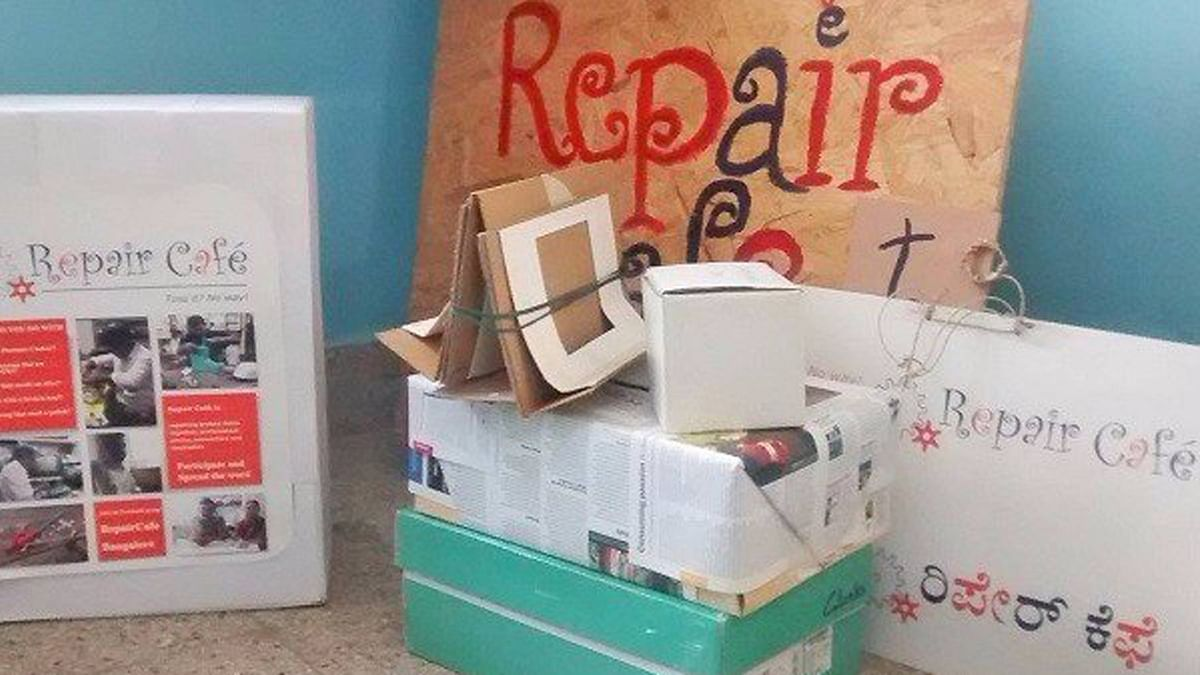 Bengaluru's Repair cafe' is a one-stop shop for people who need objects repaired. (Photo: The News Minute)
