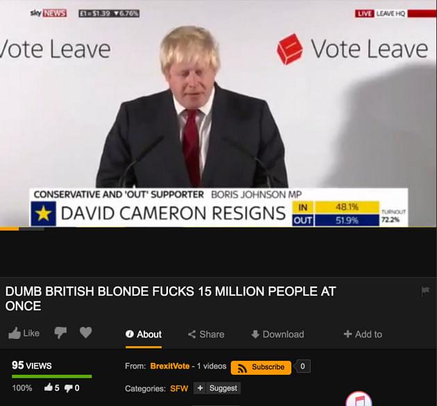 Boris Johnson's speech that was uploaded. (Photo: Screenshot)