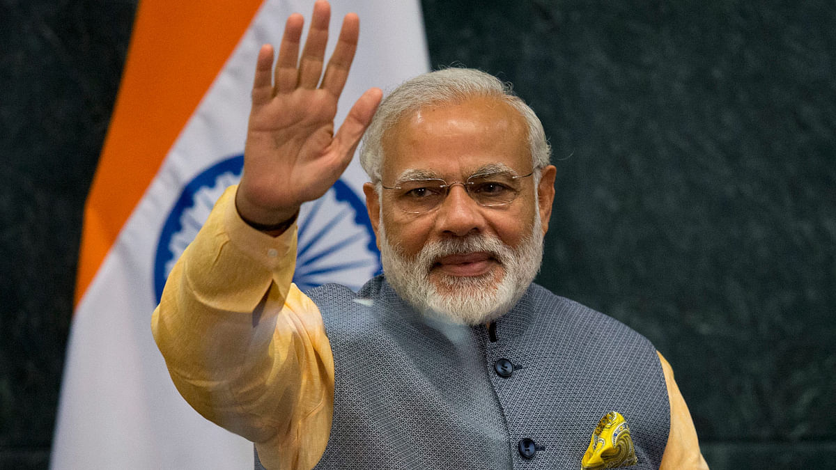 Prime Minister Modi waves in Mexico on the last day of his five-nation tour. (Photo: AP)