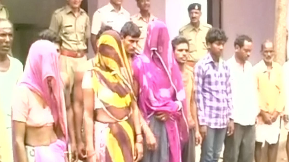 13 people arrested by the police. (Photo: ANI)