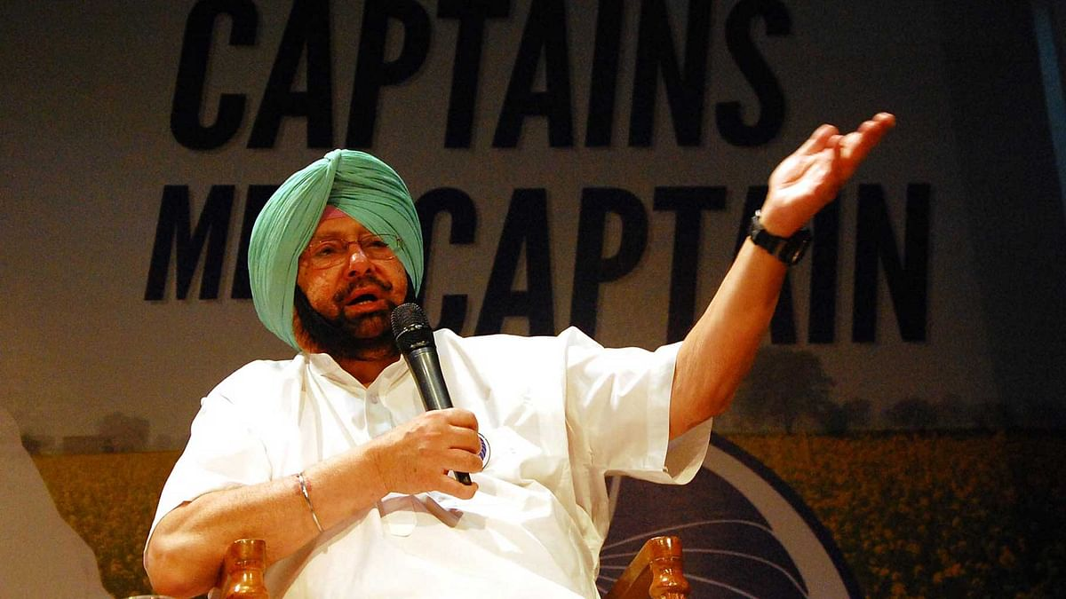 Congress member Captain Amrinder Singh at the event in Chandigarh on Sunday, 29 May 2016. (Photo Courtesy: IPAC)