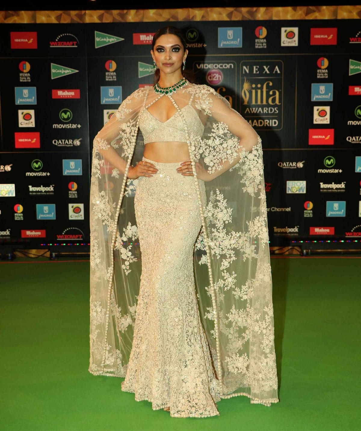 Bollywood actress Deepika Padukone poses for photographers at the International Indian Film Academy (IIFA).  (Photo: AP)