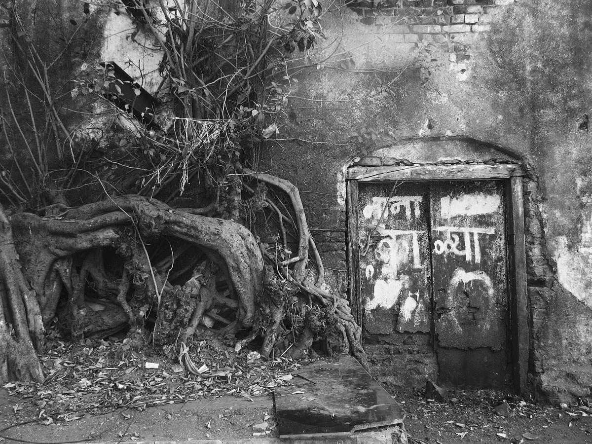 The mill culture of its past has shaped Mumbai irrevocably. Here is an abandoned mill compound in Lalbaug in Mumbai. (Photo: <b>The Quint</b>/Maanvi)