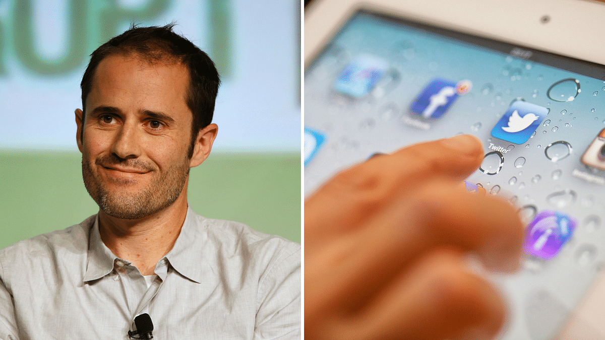Twitter co founder Evan Williams' finds his Twitter account hacked on Thursday. (Photo: Reuters, iStockphoto/ Altered by <b>The Quint</b>)