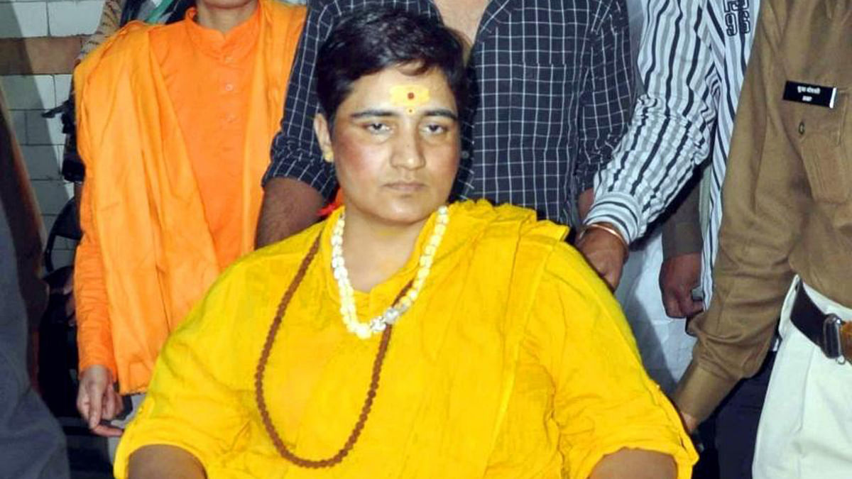 Sadhvi Pragya Singh Thakur who's been in jail for the last eight years and has sought bail after the NIA dropped MCOCA chages against her. (Photo: IANS)