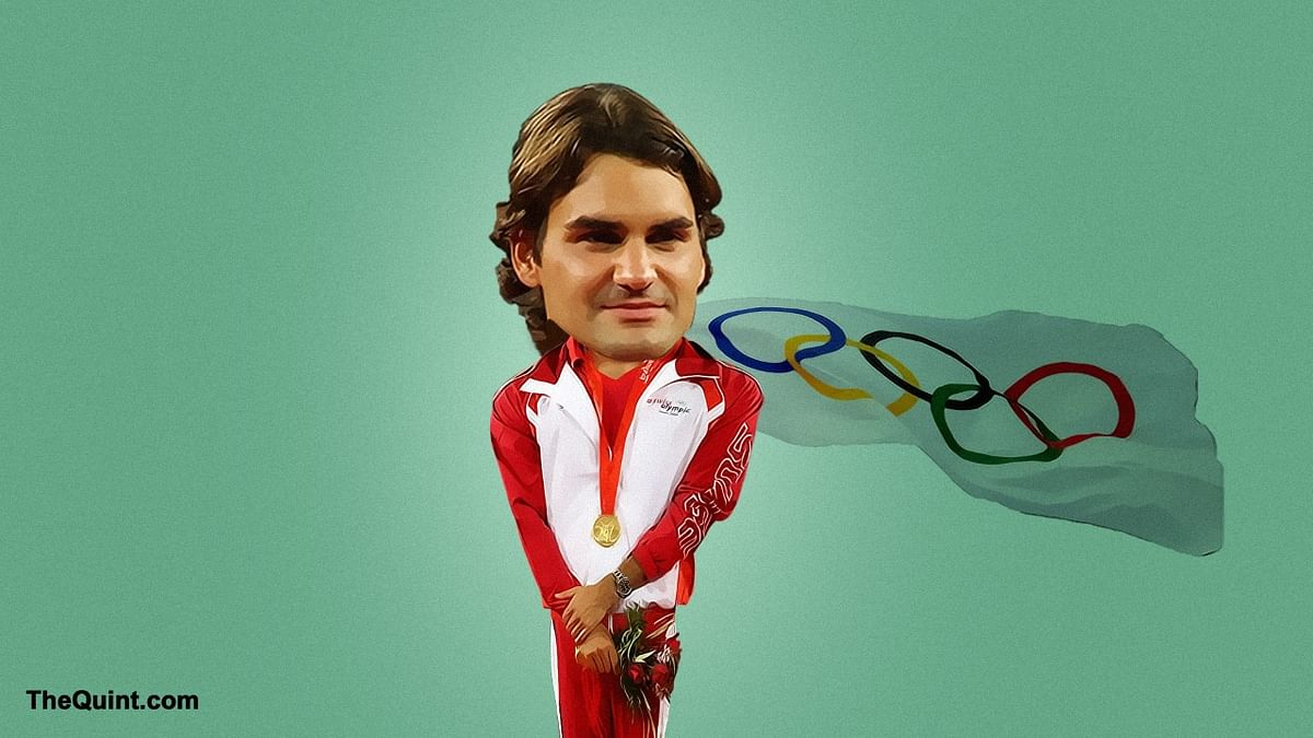Roger Federer won a gold in men's doubles in 2008 and a silver at men's singles in 2012. (Photo: <b>The Quint</b>)